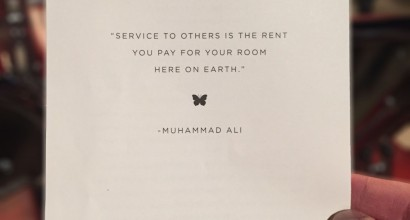 Muhammad Ali Funeral Card Quote