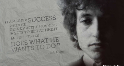 Bob Dylan Poster - Be Free Today - Performance Life Coaching